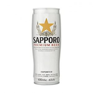 Sapporo Premium Beer 5.0% Can 650ml X 6