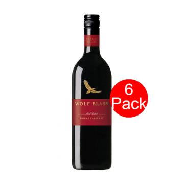 Wolf Blass Red Label Shiraz Cabernet 6 Pack